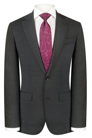 Charcoal Modern Twill Suit