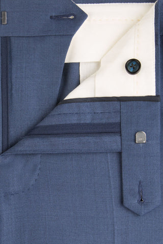 Denim Blue Sharkskin Suit