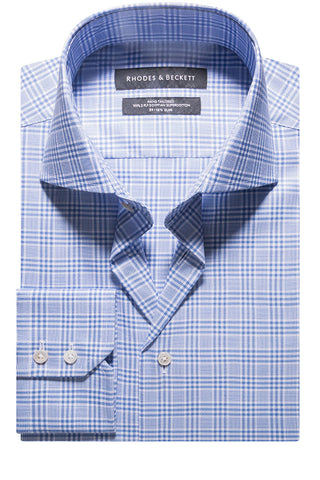 Mid Blue Oxford Prince of Wales