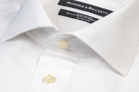 White Poplin Button Cuff