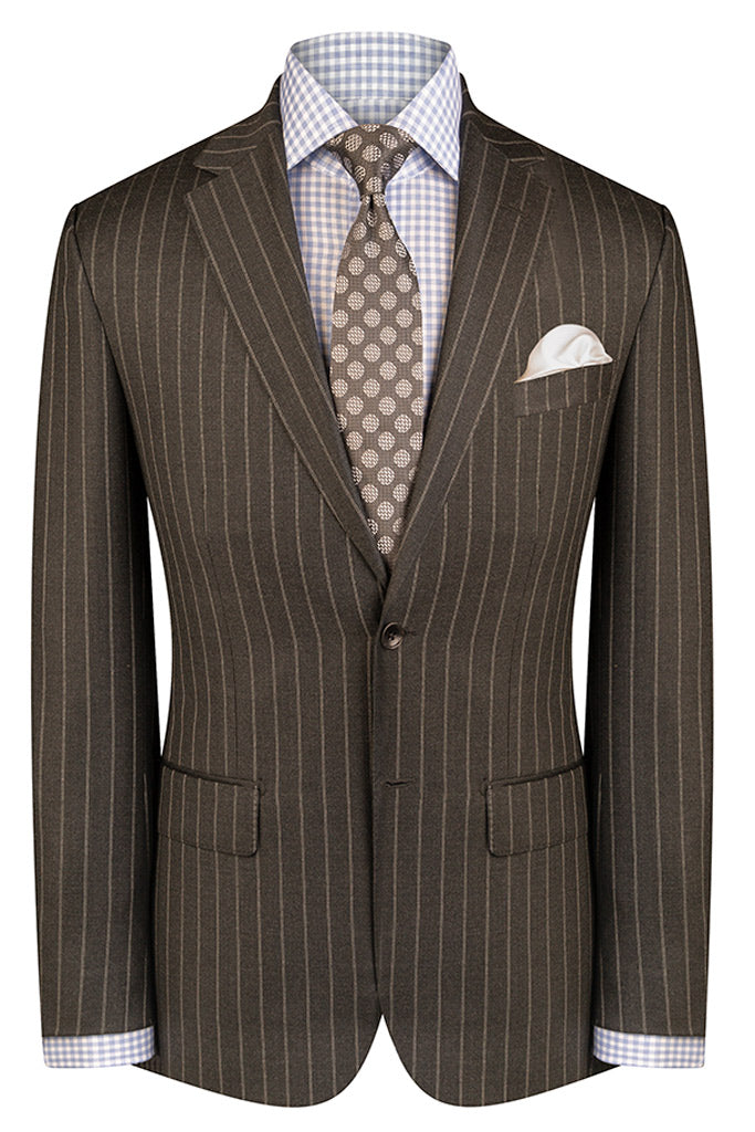 Charcoal Double Pinstripe Suit