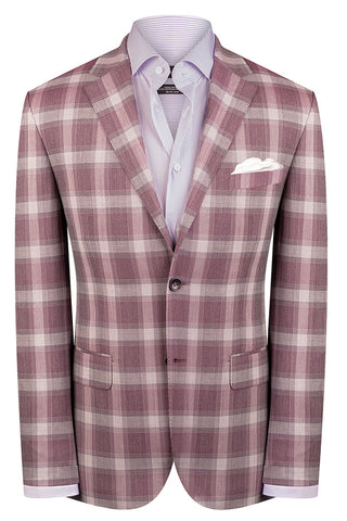 Burgundy Prince of Wales Jacket