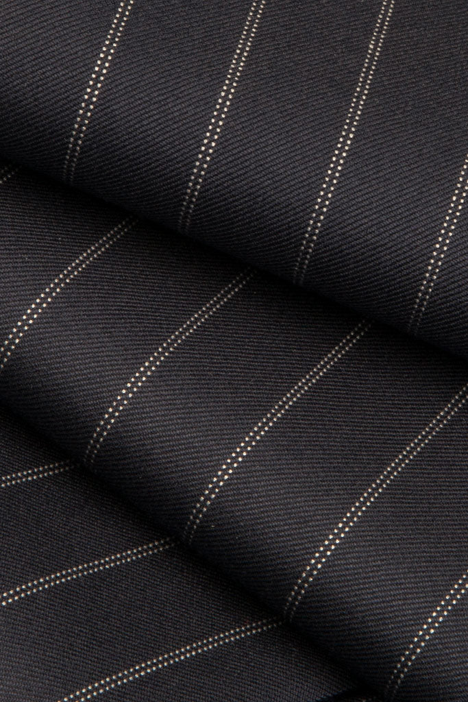 Navy Double Pinstripe Suit