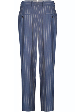 Denim Pinstripe Suit