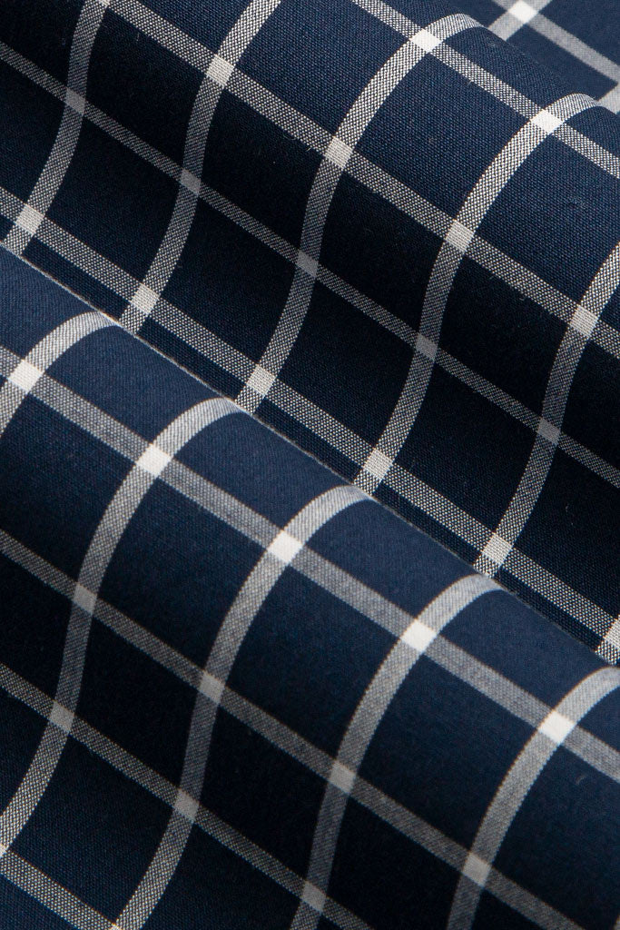 Navy & White Bold Gingham Check