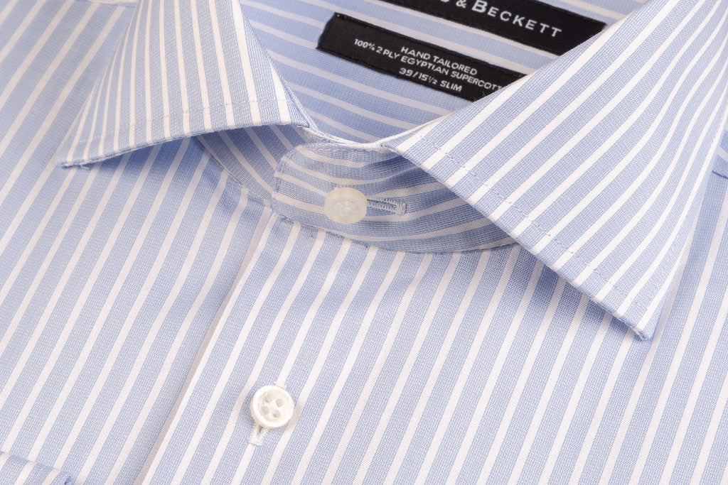 Light Blue twill stripe