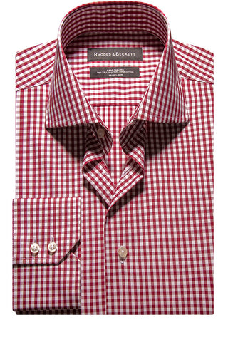 Bordo Gingham Check