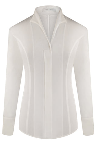 White Alice Silk Crepe de Chine