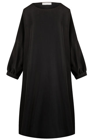Black Kitti Drape Dress