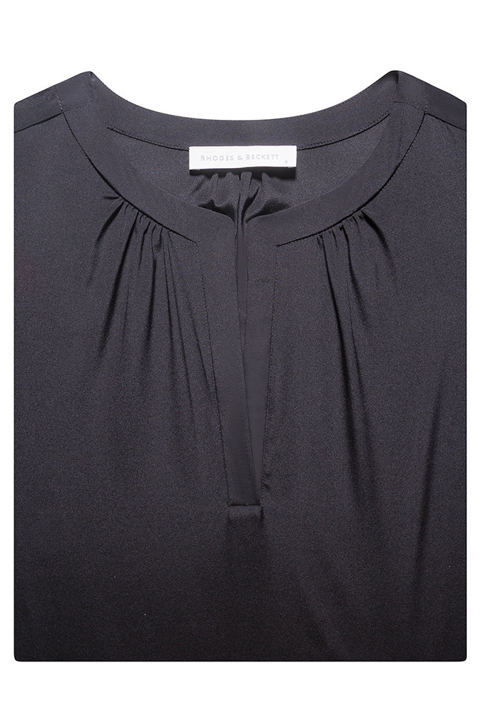 Black Bine Silk Crepe de Chine