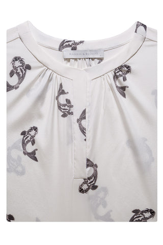 Black & White Koi Print