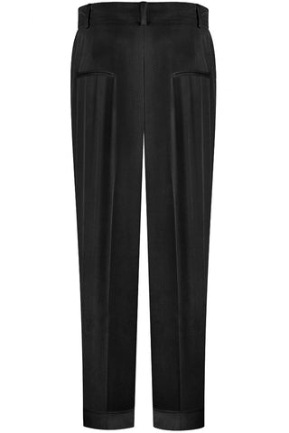 Black Pleat Front Pant