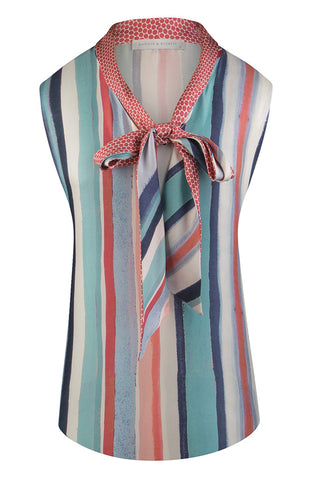 Painterly Stripe Sleeveless