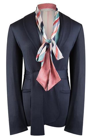 Navy Stretch Crepe Jacket