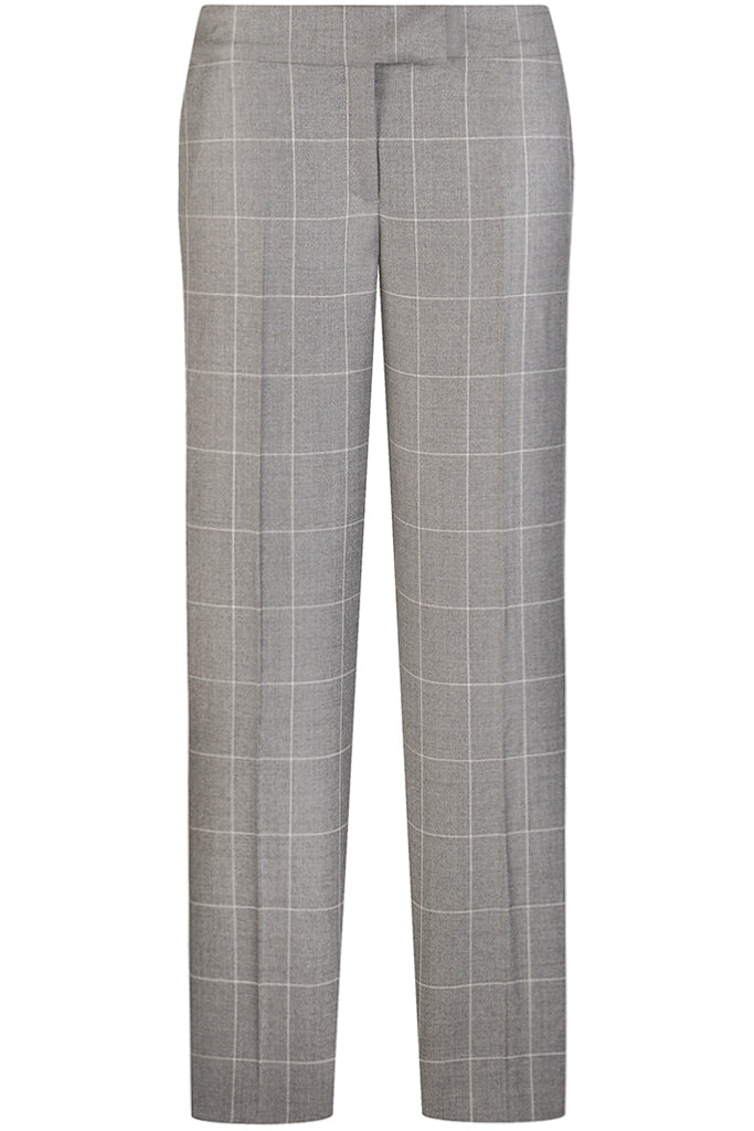 Mid Grey Window Check Pants