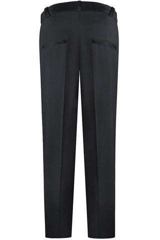 Black Modern Twill Pants