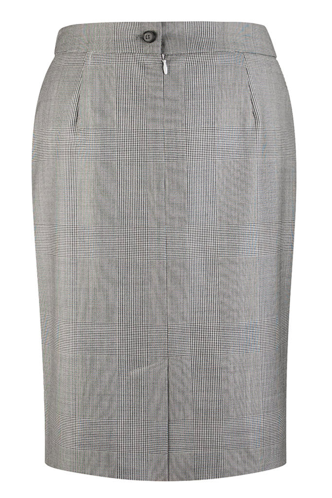 Salt & Pepper Prince of Wales Check Skirt
