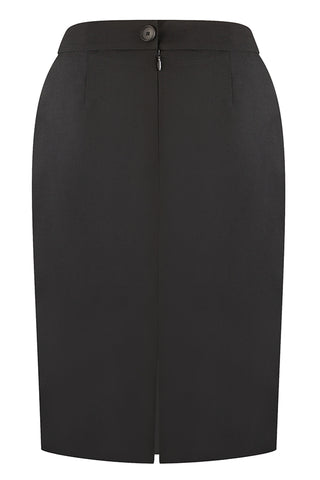 Black Modern Twill Skirt