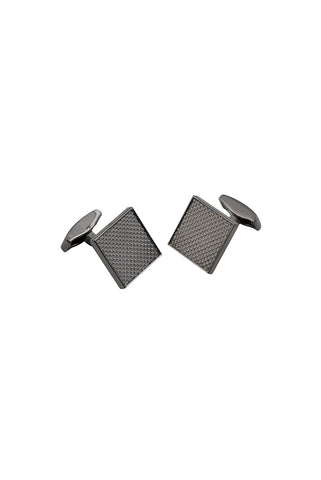 Gunmetal Textured Houndstooth Square