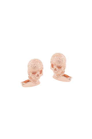Textured Skull in Rose Gold