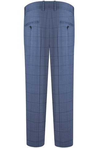 Denim Windowpane Check Suit