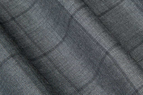 Mid Grey Windowpane Check Suit
