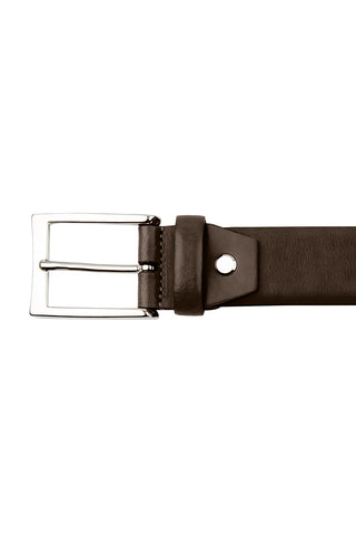 Brown Gloss Leather Belt