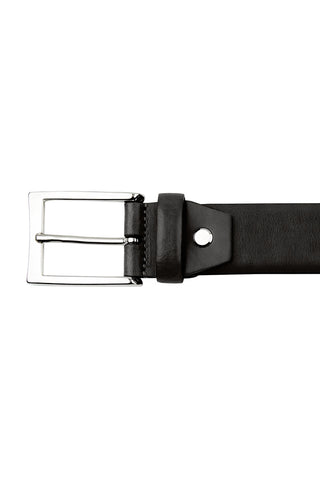Black Gloss Leather Belt