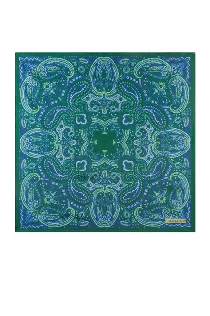 Green Classic Paisley