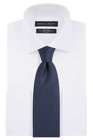 Atlante Textured with White Dot Tie