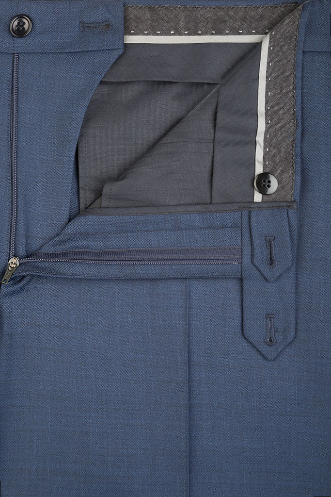 Blue Sharkskin Premium Trousers