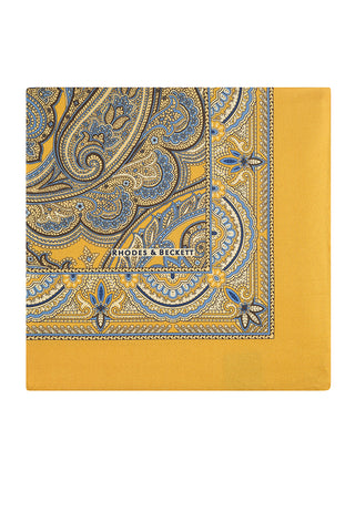 Yellow & Cielo Complex Paisley