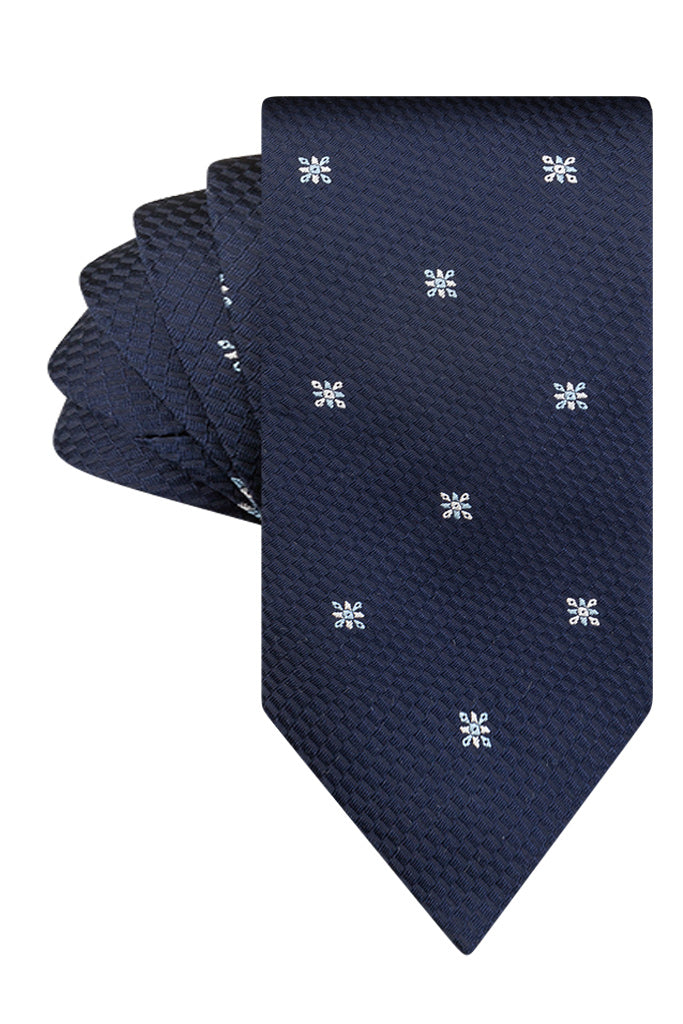 Navy & White Star Motif
