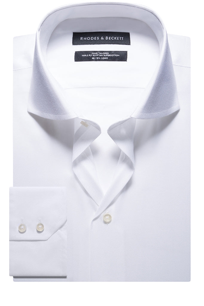 White Fancy Oxford Button Cuff