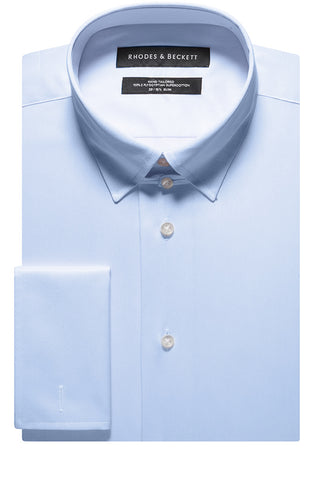 Blue Twill Perfect Look Tab Collar