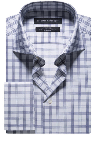 Navy Windowpane Check