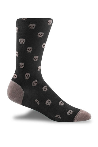 Charcoal with Grey Skull Motif