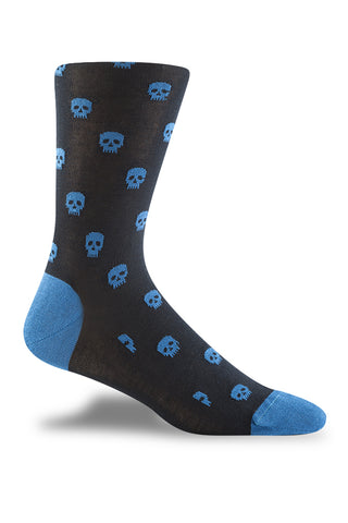 Navy with Blue Skull Motif