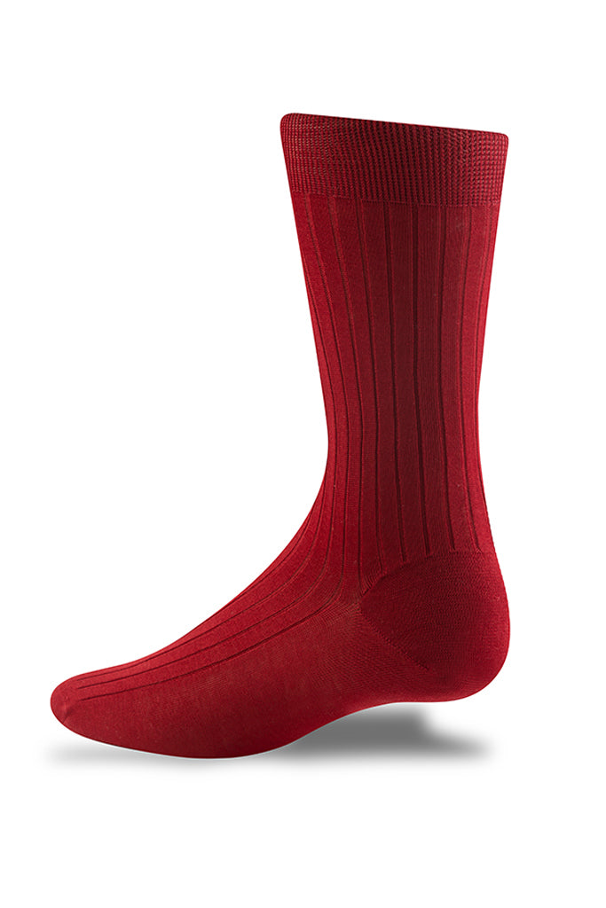 Deep Red Ribbed