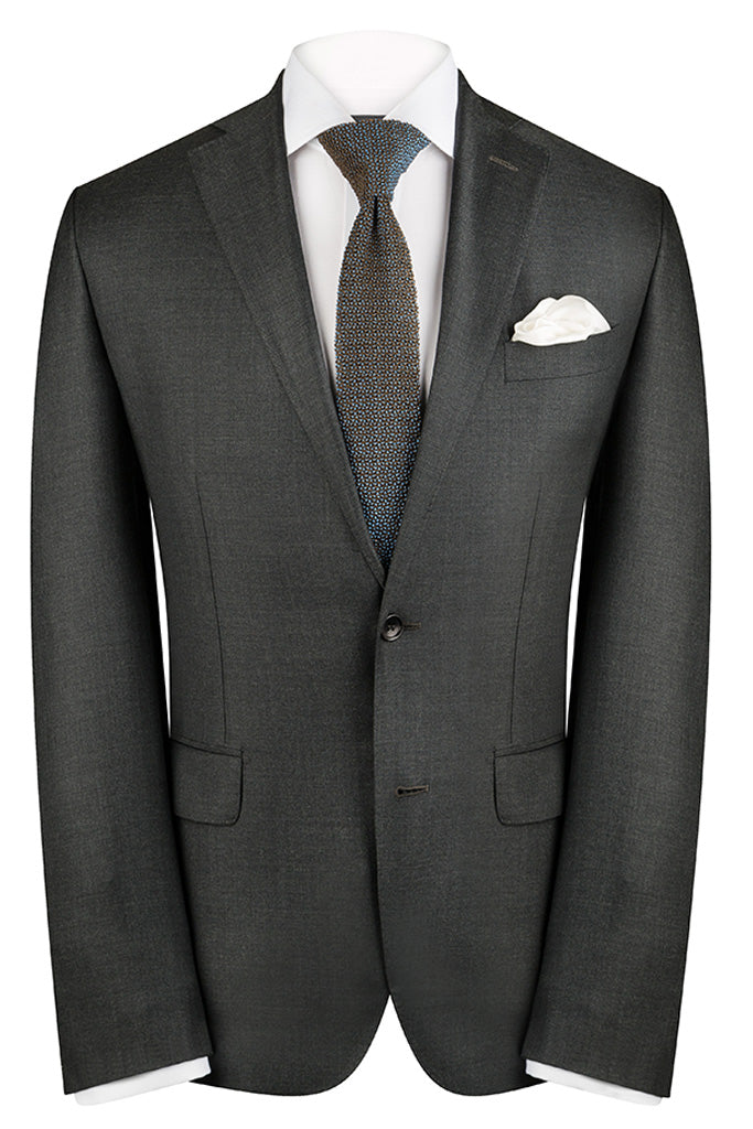 Charcoal Sharkskin Premium Suit