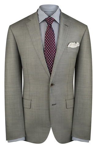 Light Grey Sharkskin Premium Suit