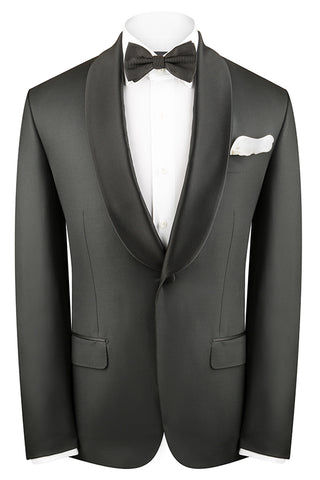 Black Twill Dinner Shawl Luxury Suit