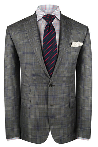 Grey with Blue Check Luxury Jacket
