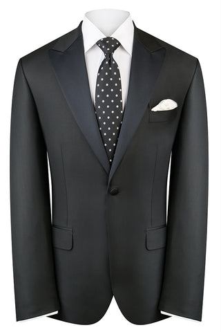 Black Twill Dinner Peak Luxury Jacket
