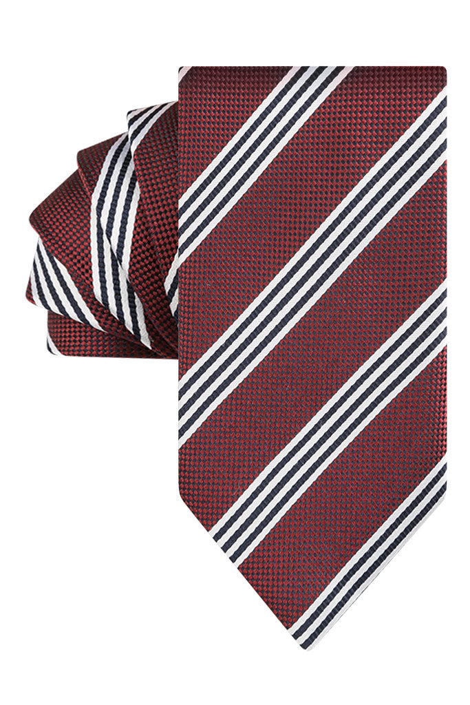 Bordo Textured Trio Stripe