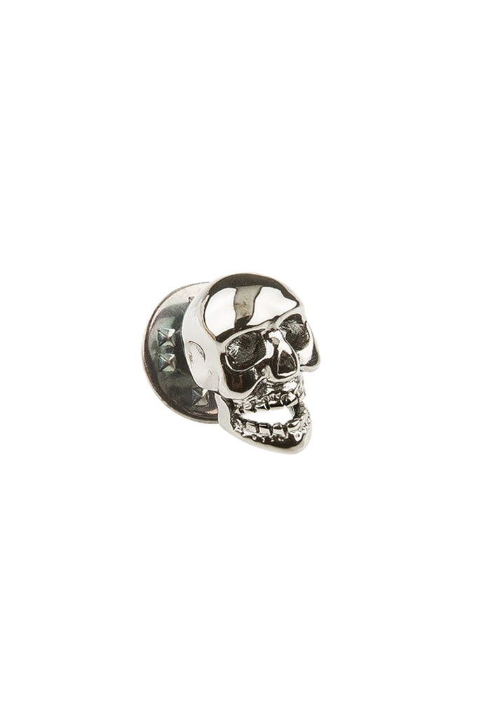 Gunmetal Skull Lapel Pin