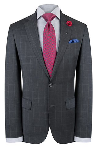 Grey Overcheck Suit
