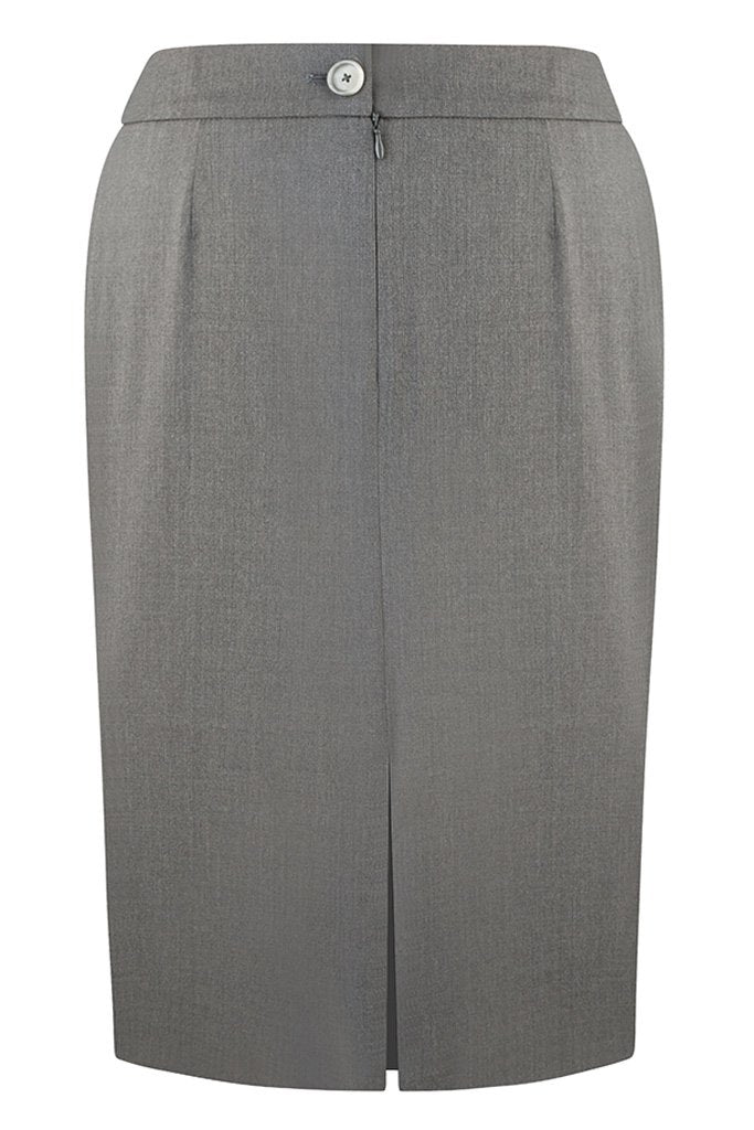 Loro Piana Mid Grey Luxury Twill Skirt