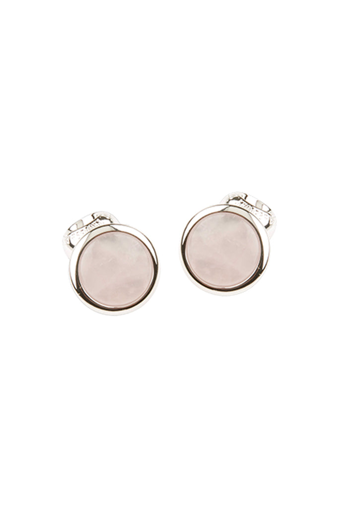 Circle with Rose Quartz Stone