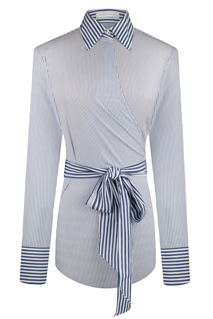 Blue Fine Stripe Wrap